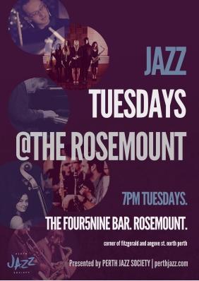 PJS Jazz Tuesdays Poster - Tess Palmyre