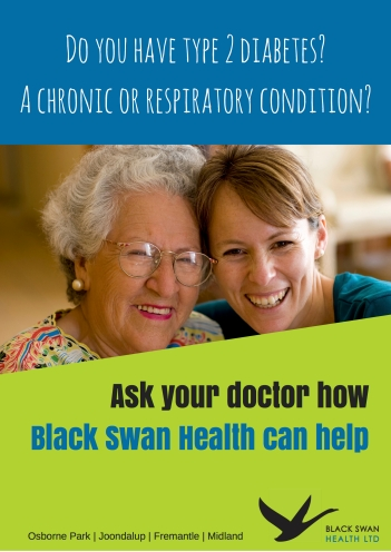 Black Swan Health Client Poster - Tess Palmyre
