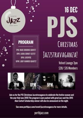 PJS Jazzstravaganza Poster - Tess Palmyre