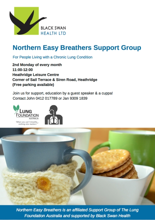 Black Swan Health Support Group Flyer - Tess Palmyre