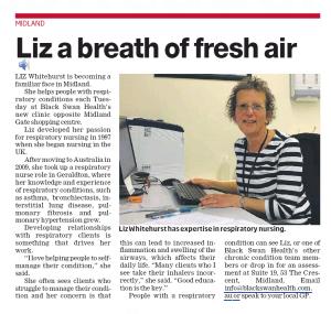 Liz a breath of fresh air - Tess Palmyre